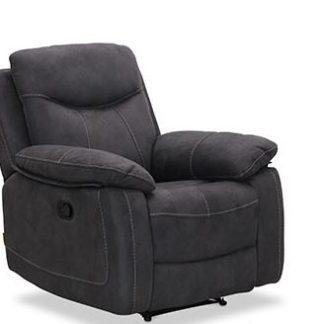 Boston recliner lænestol, grå stof