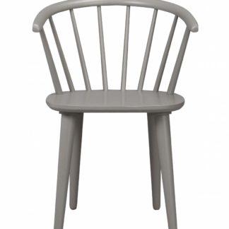 Carmen spisebordsstol - lysegråt træ, m. armlæn