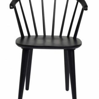 Carmen spisebordsstol - sort træ, m. armlæn