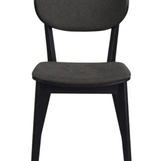 Cato spisebordsstol - sort eg og gråt stof