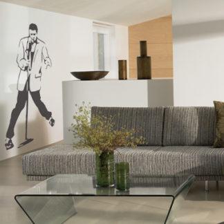 Elvis wallsticker af Jesper Haun, 50x83 cm