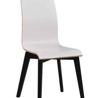 Grace spisebordsstol - hvid laminat/sort eg