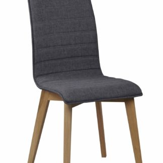 Grace spisebordsstol - mørkegråt stof/lakeret eg