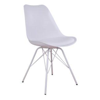 HOUSE NORDIC Oslo spisebordsstol i hvid med hvide ben