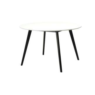 Like spisebord - sort/hvid træ, rundt (Ø:120)