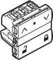 LK IHC® Wireless jalousi afbryder m/lås hvid