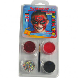 Eulenspiegel Ansigtsmaling - sminkesæt, ass. farver, spiderman, 1sæt
