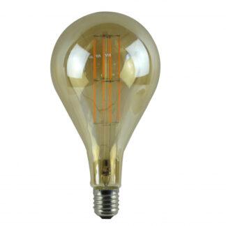 LED decopære, 3W, røgfarvet glas