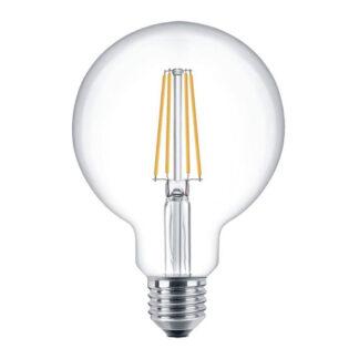 LED filament pære 4W, klart glas