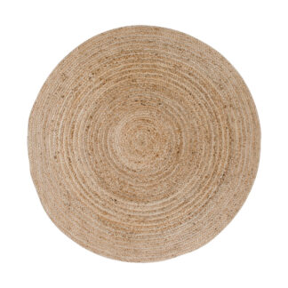 HOUSE NORDIC Bombay gulvtæppe - natur bomuld/jute, rund (Ø:150)