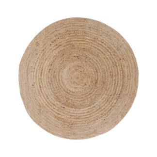 HOUSE NORDIC Bombay gulvtæppe - natur bomuld/jute, rund (Ø90)