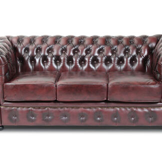 HAGA Liverpool 3 chesterfield sofa - oxblod læder