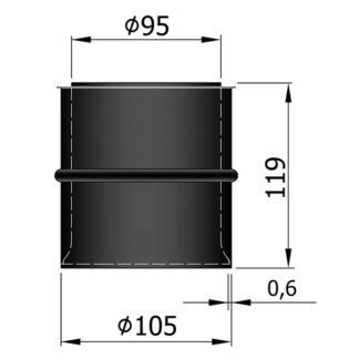 Murbøsning - Dobbelt - Ø95mm til Ø100mm