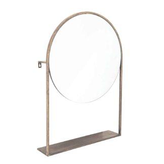 CREATIVE COLLECTION bordspejl - glas/messing spejlglas/metal