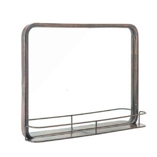 CREATIVE COLLECTION vægspejl - glas/sort spejlglas/metal, rektangulær (47x62)