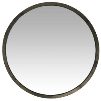 IB LAURSEN vægspejl - glas/grå spejlglas/metal, rund (Ø60)