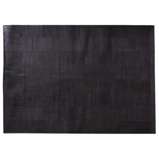 FUHRHOME Rabat håndlavet tæppe, ægte læder, (170x240cm), unika