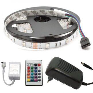 LED Bånd, Sæt, RGB, 5050, 30LED/m, 12V, IP21