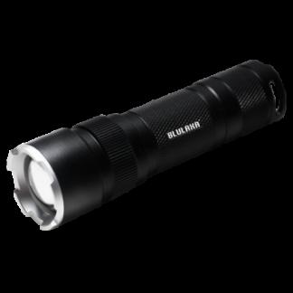 LED Lommelygte, 400LM, ZOOM, Sort, Alu, Blulaxa (48660)
