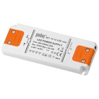 LED strømforsyning, 12VDC, 12W slim, IP20