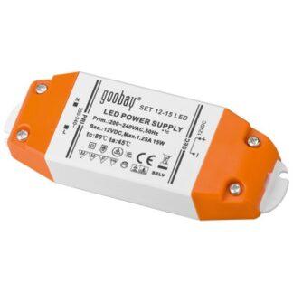 LED strømforsyning, 12VDC, 15W, IP20