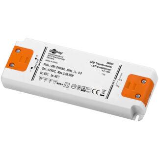 LED strømforsyning, 12VDC, 30W slim, IP20