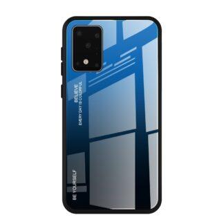Samsung Galaxy S20 - GRADIENT Hybrid cover m/Hærdet glas bagside - Blå/Sort