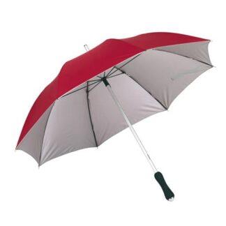 Billig rød paraply med glasfiber paraply - Twice