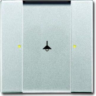 Knx kontakt 1/2-tryk alu. sølv