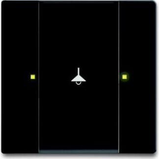 Knx kontakt 1/2-tryk mat sort