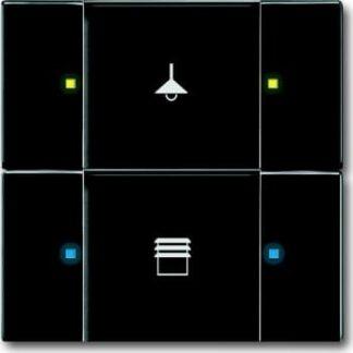 Knx kontakt 2/4-tryk mat sort