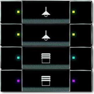 Knx kontakt 4/8-tryk antracit