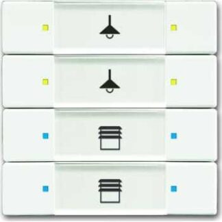 Knx kontakt 4/8-tryk mat hvid