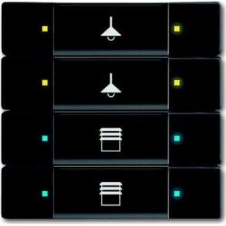 Knx kontakt 4/8-tryk mat sort