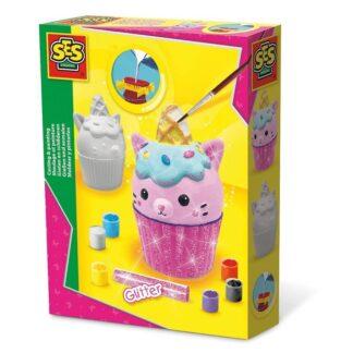 SES Creative støb og mal cupcake med kat