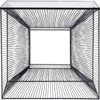 KARE DESIGN rektangulær Dimension konsolbord - klar glas og stål (80,5x35,5)