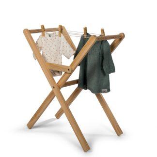 MaMaMeMo Tørrestativ til dukketøj i træ