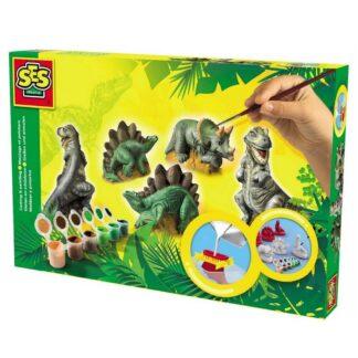 SES Creative støb og mal - dinoer