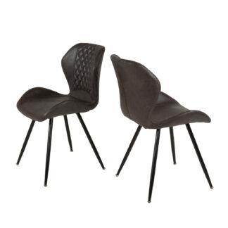 CANETT Sille spisebordsstol - polyester og sort stål