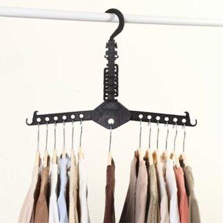 Foldelig Magic hanger tøjstativ til garderobeskab - Plads til 13 bøjler - Sort