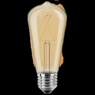 LED Pære, E27, 2W, Varmhvid, ST64, Blulaxa