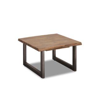 Mallorca hjørnebord, kvadratisk - brun akacietræ (70x70)
