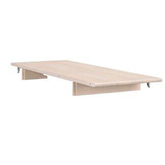 ROWICO Tyler tillægsplade - hvidpigmenteret egetræ, 40 cm forlængelse, til ovalt spisebord