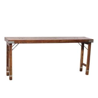 SJÄLSÖ NORDIC original konsolbord, m. foldbare ben - genbrugstræ (174x39)