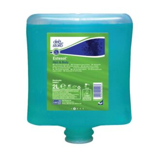 Deb Stoko, Estesol Hair & Body badesæbe m. renseeffekt, m. parfume og farve, refill, 2 L