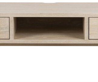 A-Line TV-bord, m. 2 skuffer og 1 rum - hvidpigmenteret egetræsfiner (150x40)
