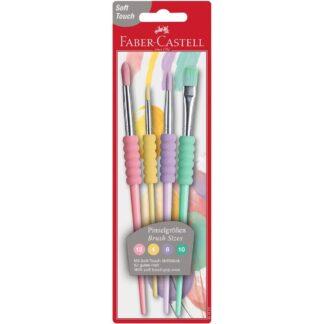Faber-Castell penselsæt pastel - 4 stk