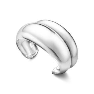 Georg Jensen Curve armring - 10017493 Sølv L