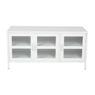 VENTURE DESIGN Acero TV-bord, m. 3 låger og 2 hylder - hvid stål