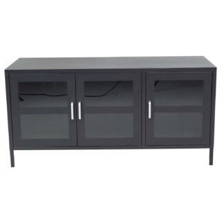 VENTURE DESIGN Acero TV-bord, m. 3 låger og 2 hylder - sort stål